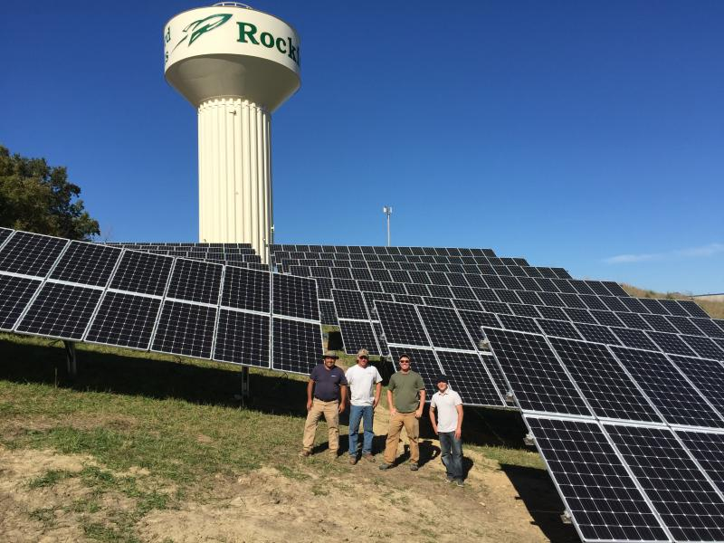 157.8 kW solar array Rockford MN (installation)
