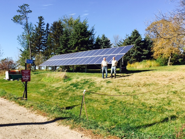 8.8 kW solar array Howard Lake, MN (daytime)