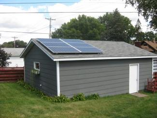 Edina Residence Solar System on Garage