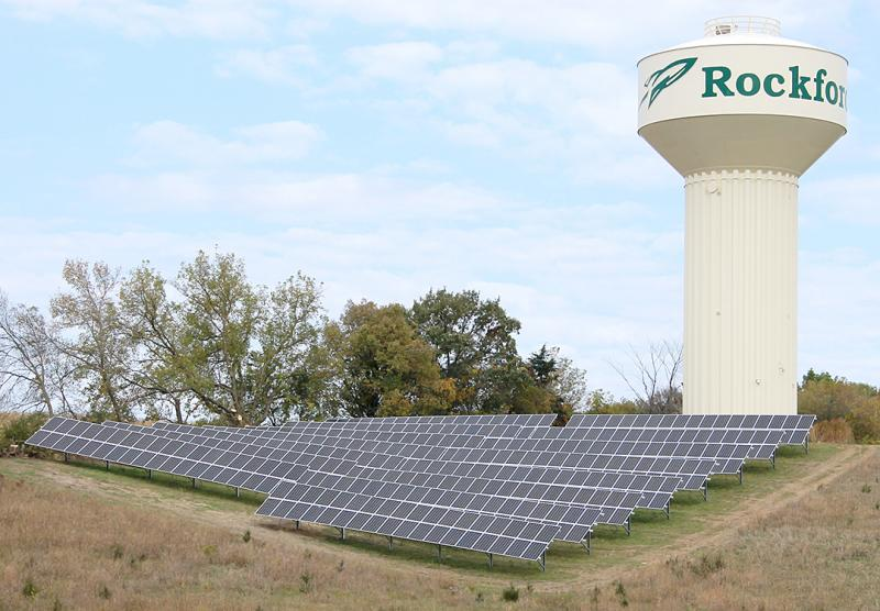 Rockford Community Solar (photo credit WH Coop Elec Assoc)