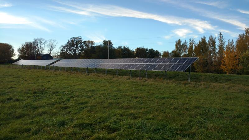 Solar installation at Pastures a Plenty